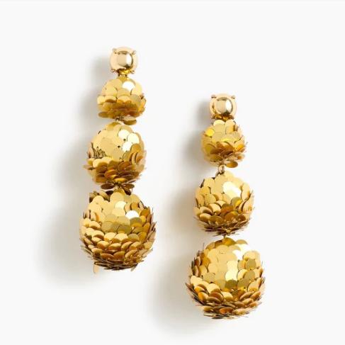 Gold Bauble Earrings