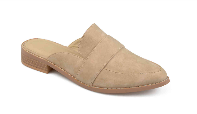Nude Mules - These mules are also perfect for the new slip-on trend! If you've never owned mules before, you definitely need to have a pair this year because they are wildly popular right now!! The nude color allows them to go with ANYTHING, so they are highly versatile and very much worth their $39.99 price tag!! The leather is a little stiff at first, so I got a blister on my pinky toes the first time I wore them, but I waited a week before wearing them again and then they were fine!! And I wear them 3 times a week now!! They fit true to size.