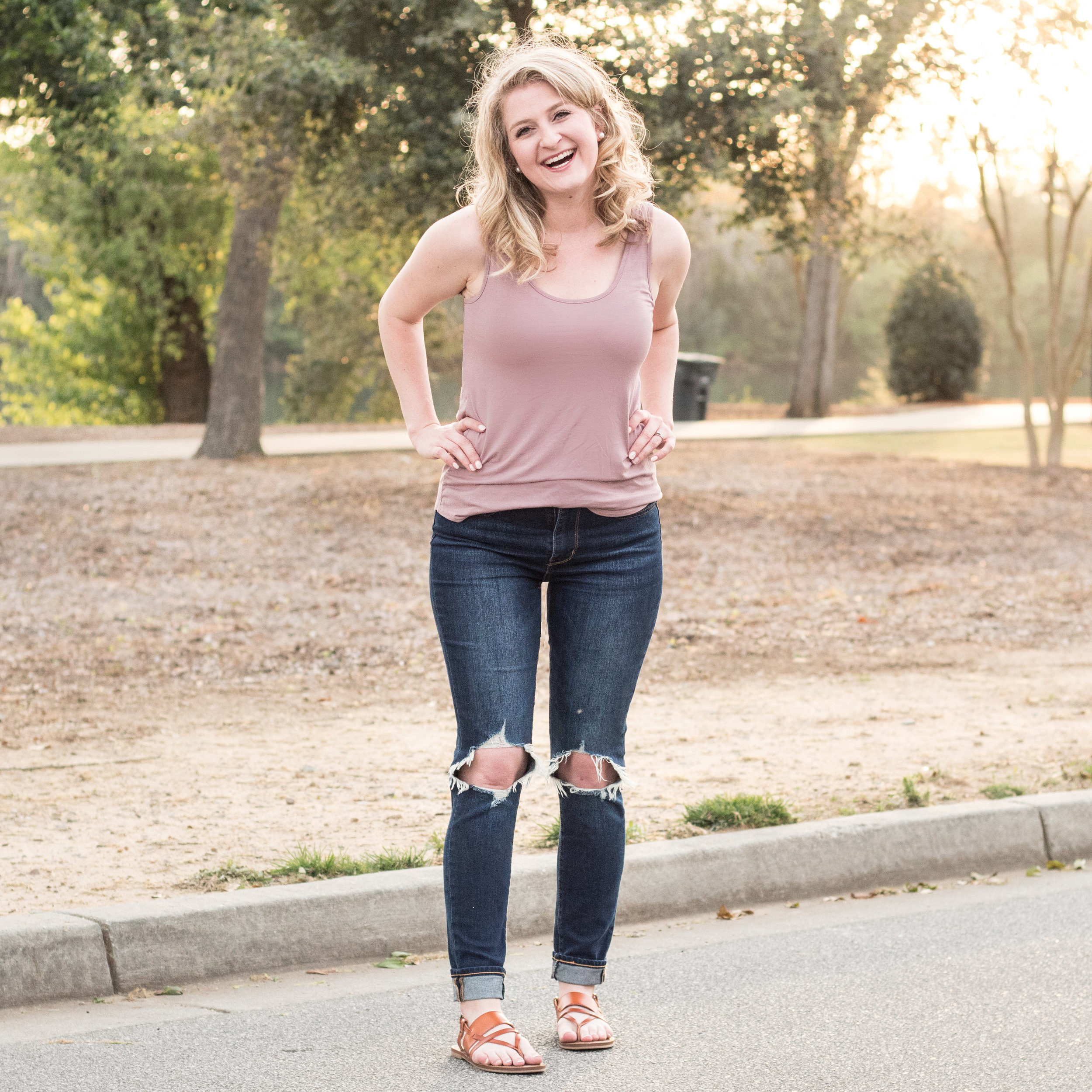 Jeans with pink top | Ademurelife Fashion Blog