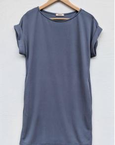 Blue T-Shirt Dress   Ademurelife Fashion Blog