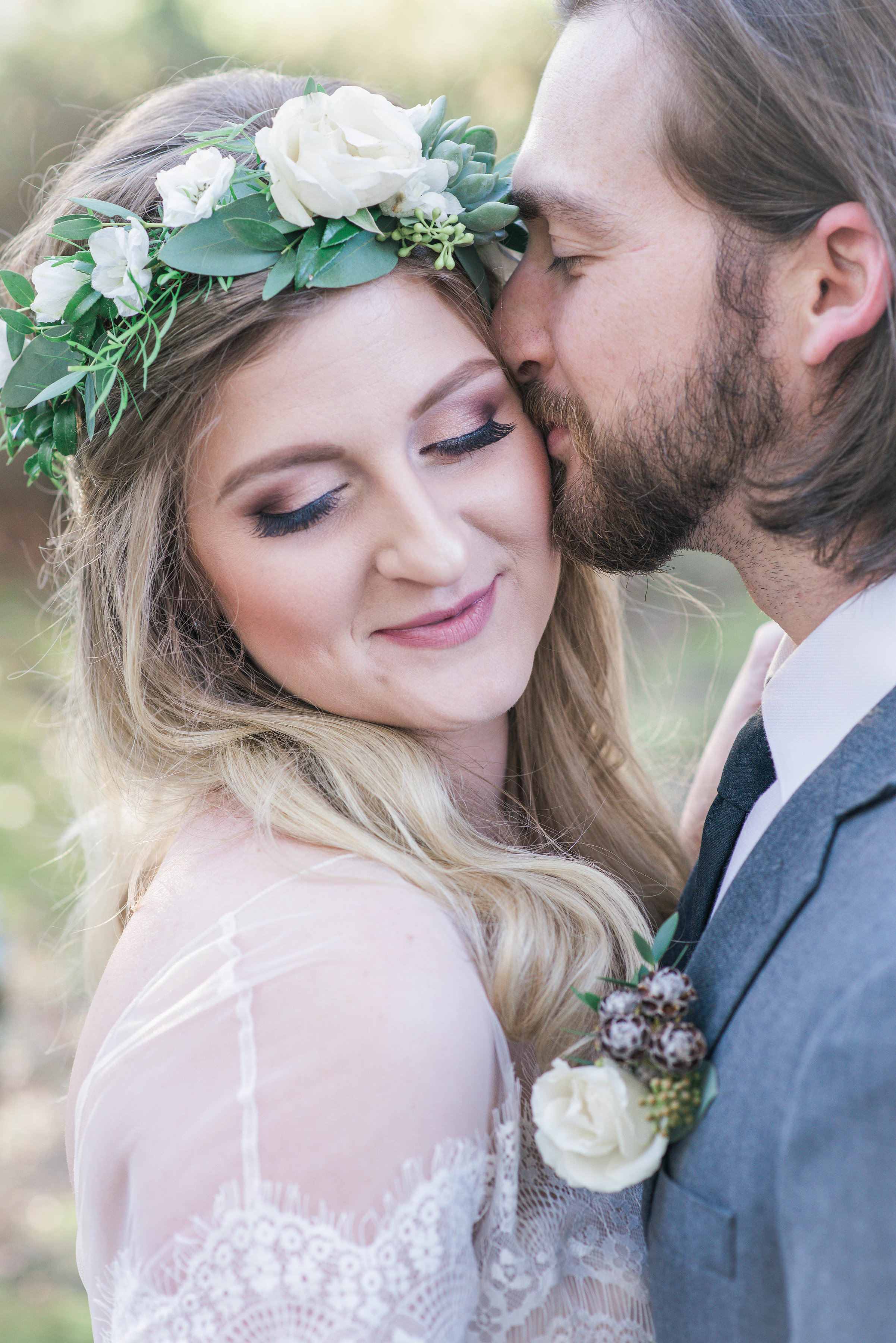 Wedding Couple Kissing | Ademurelife Fashion Blog