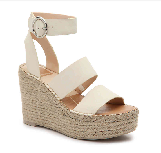 Dolce Vita Wedges - The perfect Summer wedges, if I do say so myself!! They're almost as popular as those cognac Steve MAdden wedges from last Summer LOL! They are a great neutral, white/cream color that goes with just about anything!! There was no break-in period - A.K.A, no blisters from the start! The fit true to size ( I got my usual 7.5)! Your