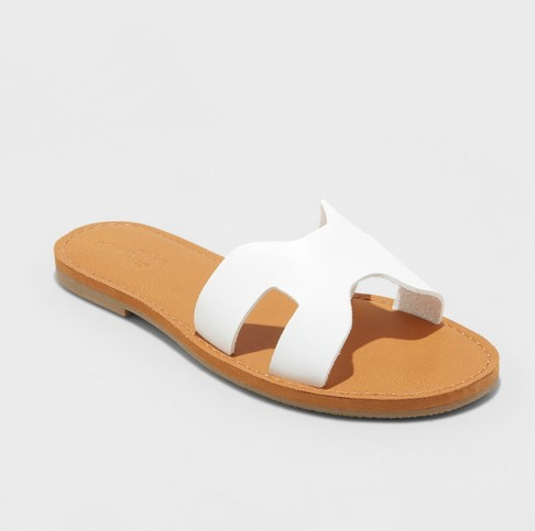 White Sandals - These cute white sandals are the perfect $20 dupes for the $80 Steve Madden