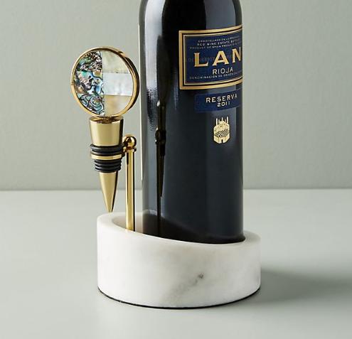 Decorative Wine Bottle Holder & Stopper