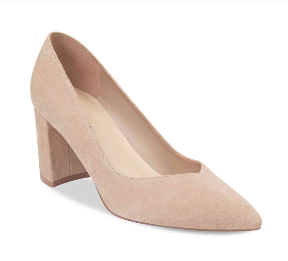 Nude Block Heels - These are amazing. Period. I know that block heels aren't loved by everyone, but they are IN right now… So, if you're going to try it, these are worth trying it for!! At $59.95, they are also an INCREDIBLE price for Marc Fisher shoes, and are fabulous for that reason alone! The toe is perfectly pointy, the nude color is just right, the suede avoids damage (if you're a clumsy walker like myself), and they are very easy to walk in! I wore them for 8 hours the very first time I wore them, and they were so great!! Comfortable from the start!!! Perfect for work, perfect for a night out, and even perfect for just dressing up jeans and a t-shirt!! I love them, y'all!