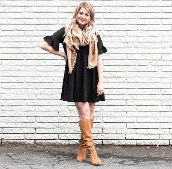 Black Flutter Dress | Demure Fashion Blog