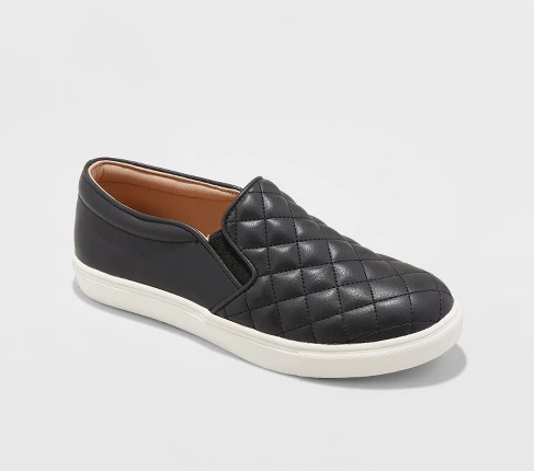 Quilted Faux Leather Sneaks - I bought these in my true size (7.5) and they fit great! There wasn't even a break-in period! I wore them out shopping and then to work on my first day having them and they were great the whole day!! They are cute, and casual, a little edgy, and def not boring with the quilted pattern detail… I don't wear them too often, but when I do, I get so many compliments!! And for only $24.99, they were such a STEAL!! They also come in 4 other colors: olive, gray, pink, and white!