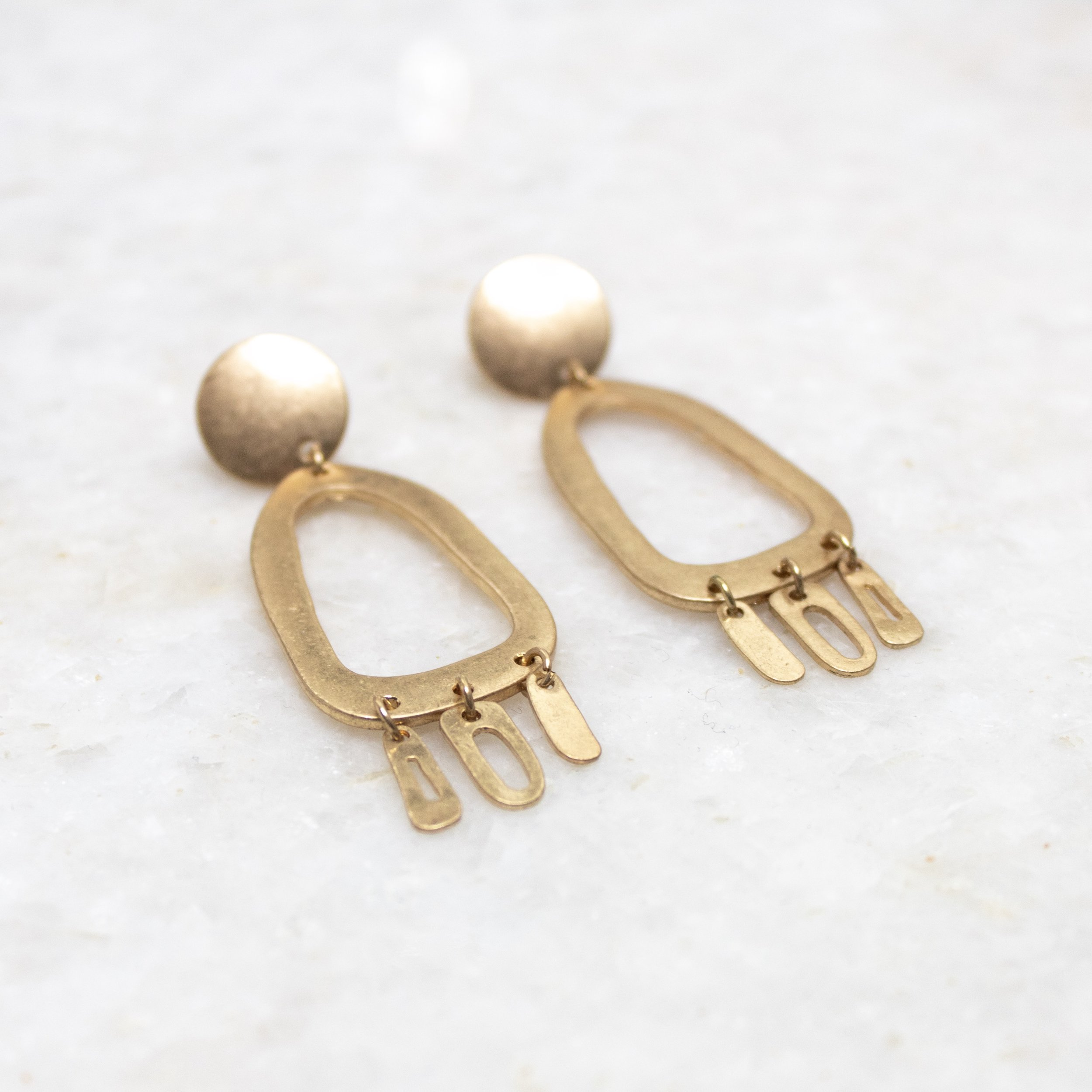 Gold Dangle Earrings | A Demure Life
