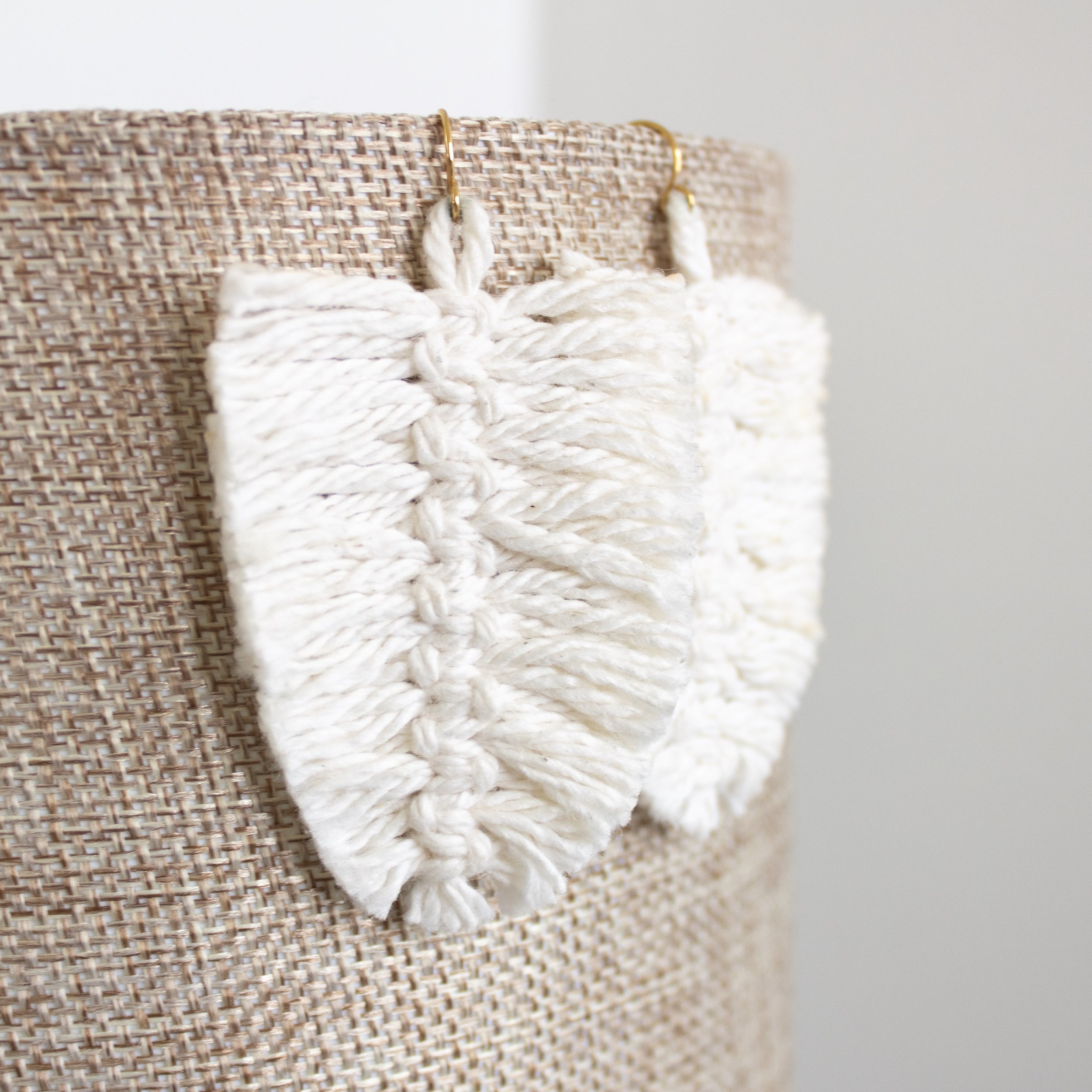 Cream Feather Earrings | A Demure Life