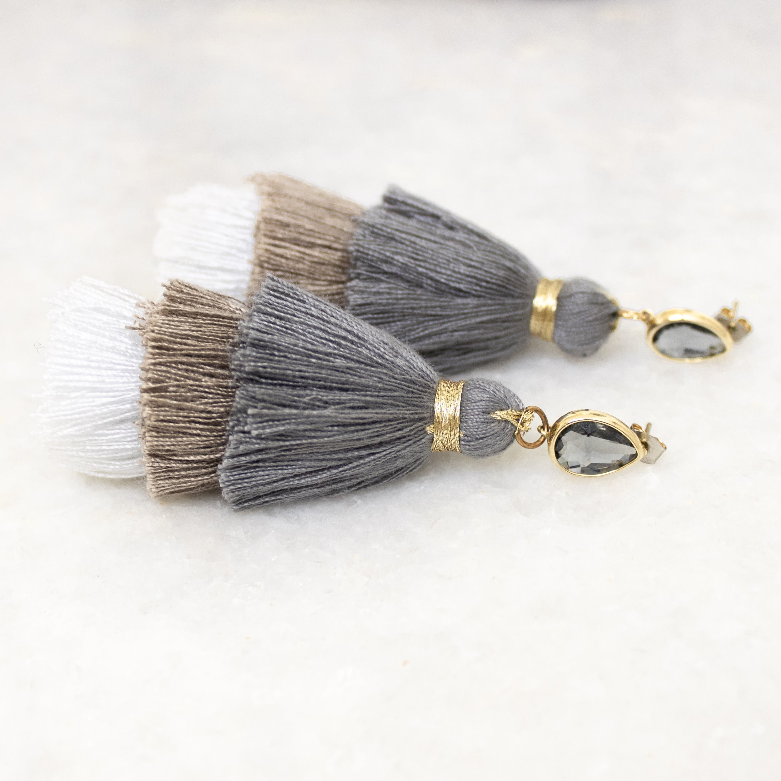 Neutral Tassel Earrings | A Demure Life