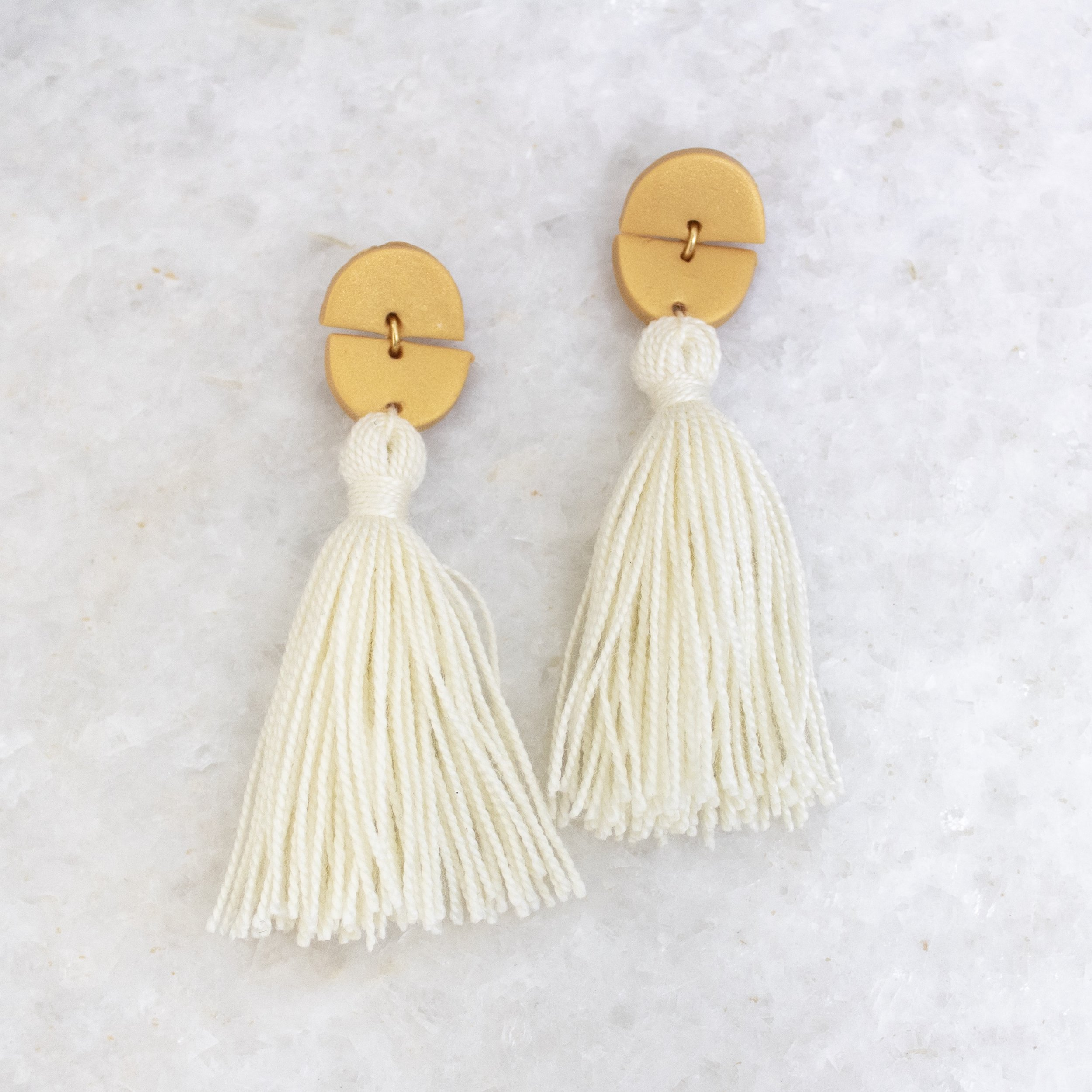 Cream Tassel Earrings | A Demure Life