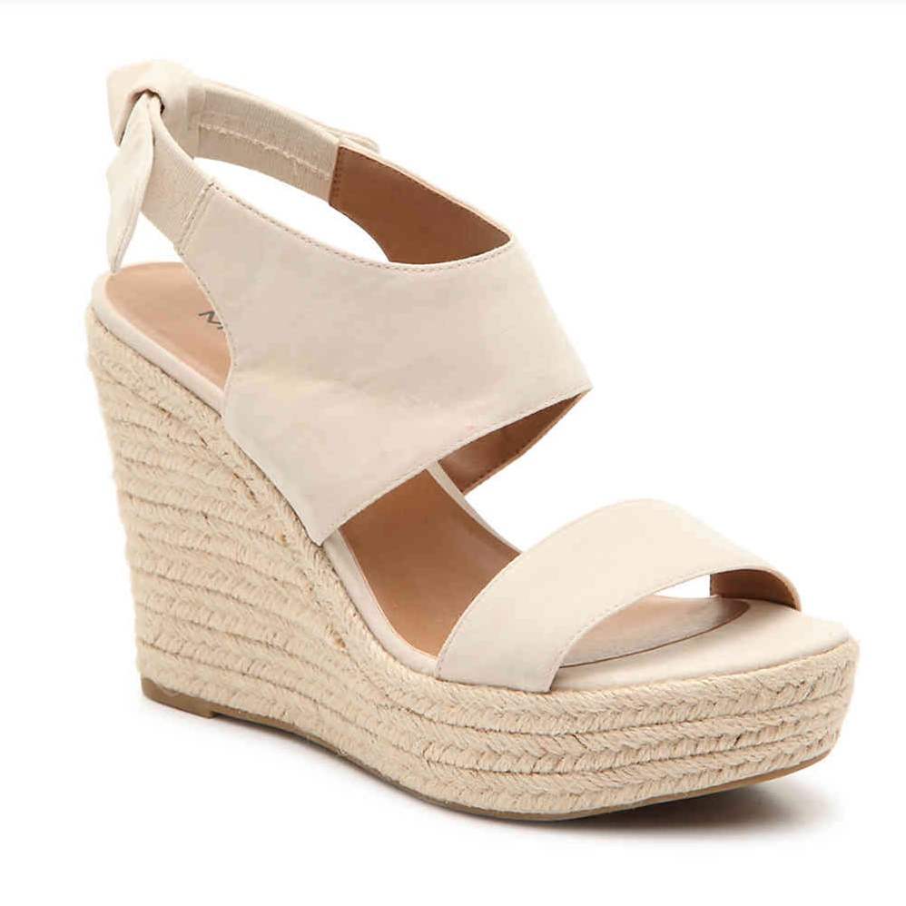 Cream Bow Wedges - These are so cute!! The bows in the back are freaking adorable!! They fit true to size - I bought my usual 7.5. I did try on the 8 for clarity's sake, and the upper strap was way too loose. They are very light weight, and easy to walk in!! And at an under $50 price-point, they are a great buy! Especially because they will go with everything, and can be worn to work!