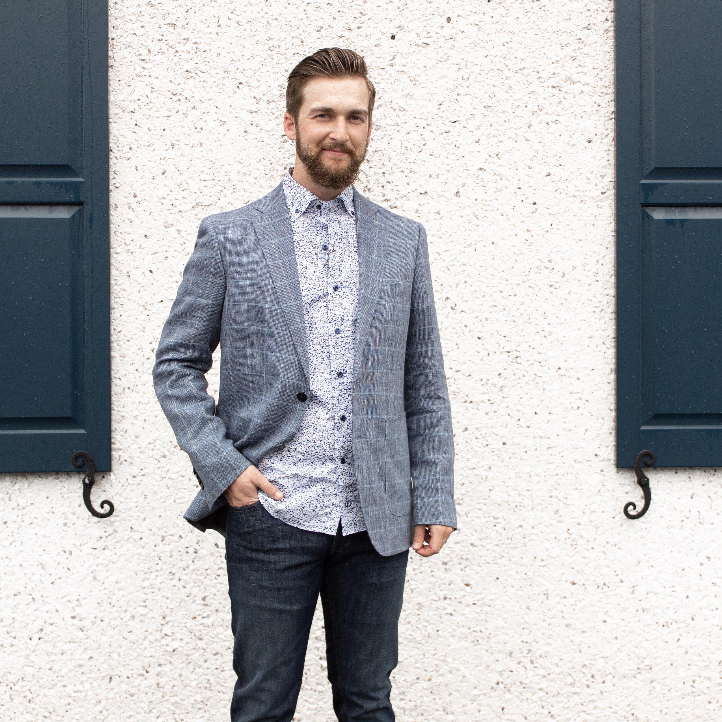 Floral David Donahue Button Down Shirt | A Demure Life Blog