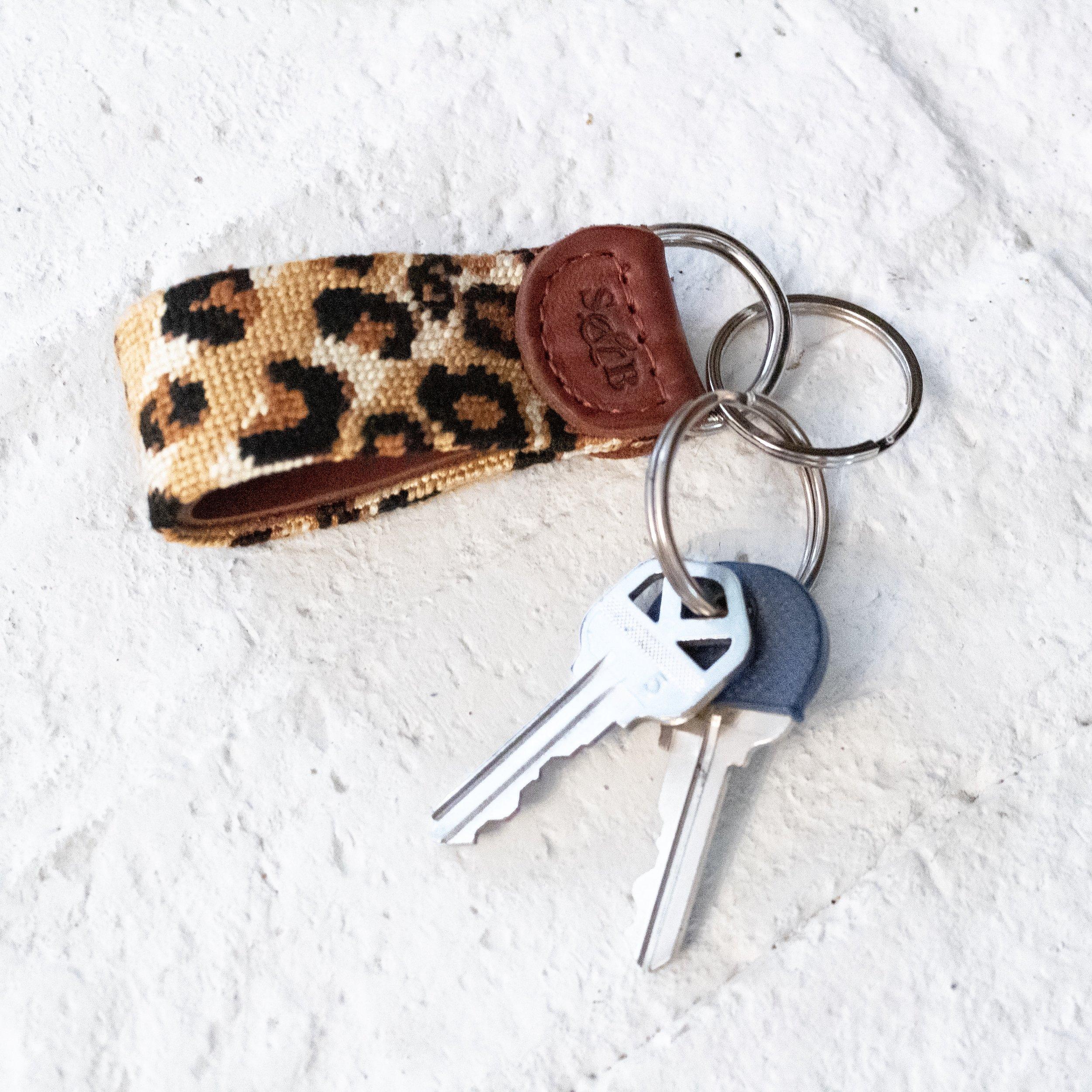 Smathers & Branson Leopard Print Keychain
