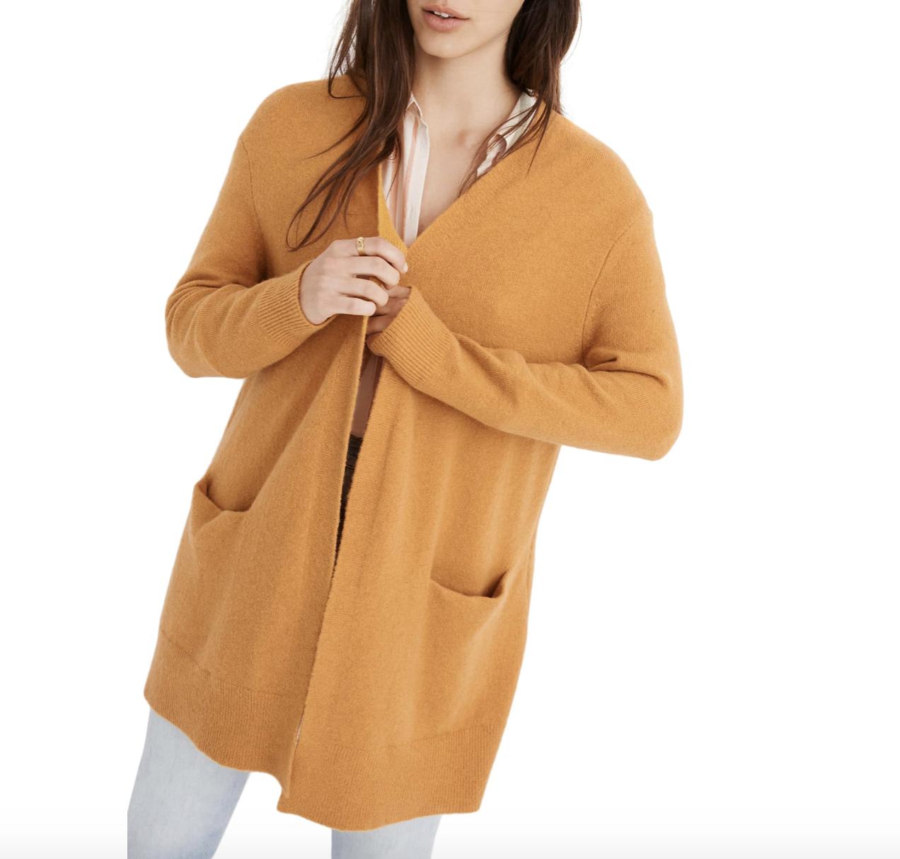 Mustard Cardigan | Nordstrom Anniversary Sale 2019 | A Demure Life Fashion Blog
