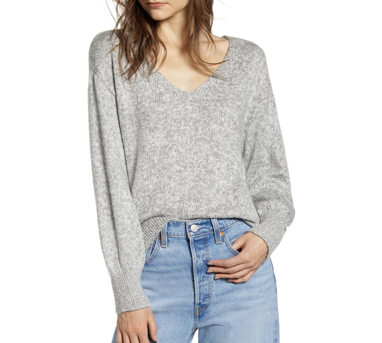 Basic Gray Sweater | Nordstrom Anniversary Sale 2019 | A Demure Life Fashion Blog