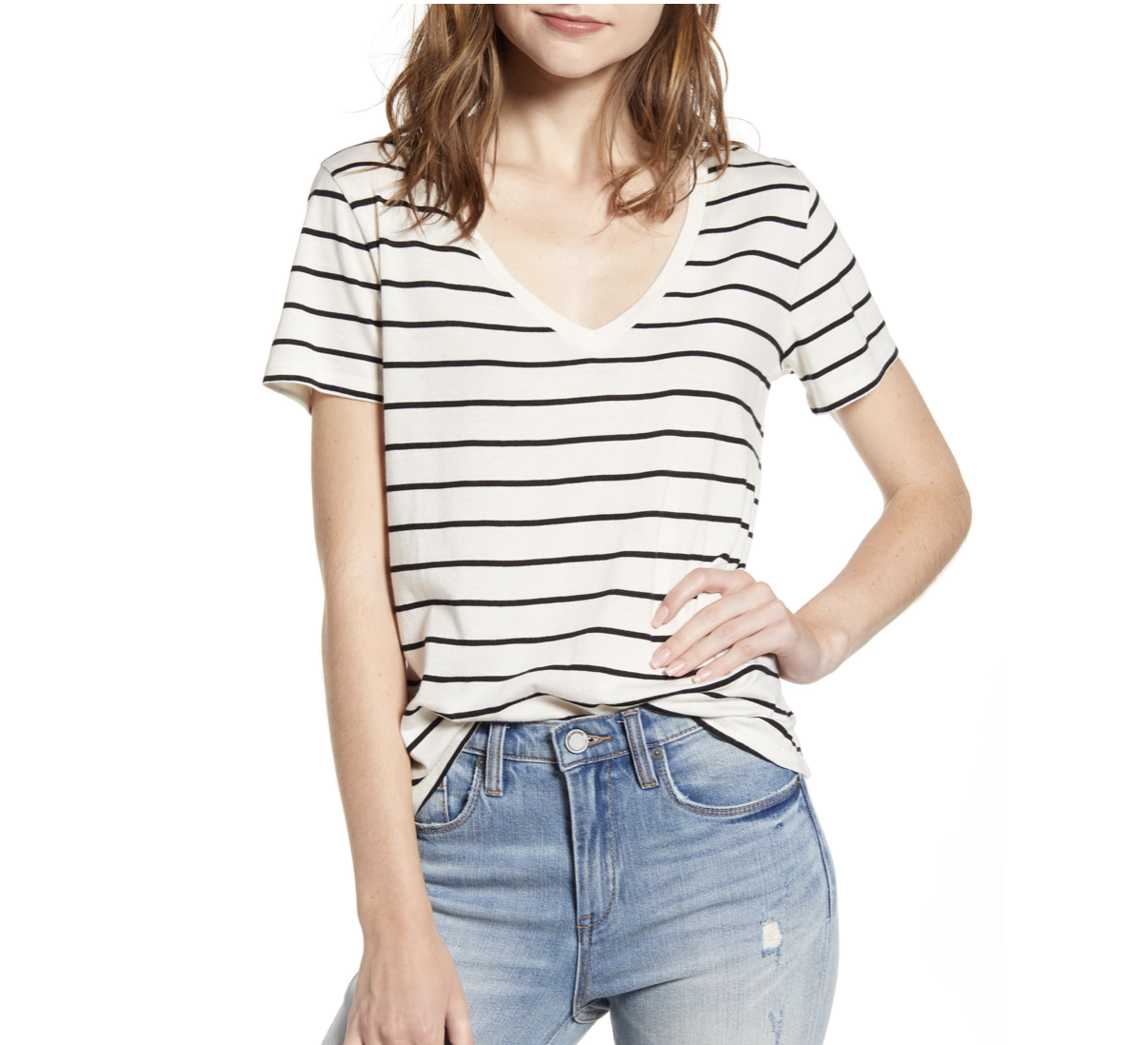 Black and White Striped Tee | Nordstrom Anniversary Sale 2019 | A Demure Life Fashion Blog