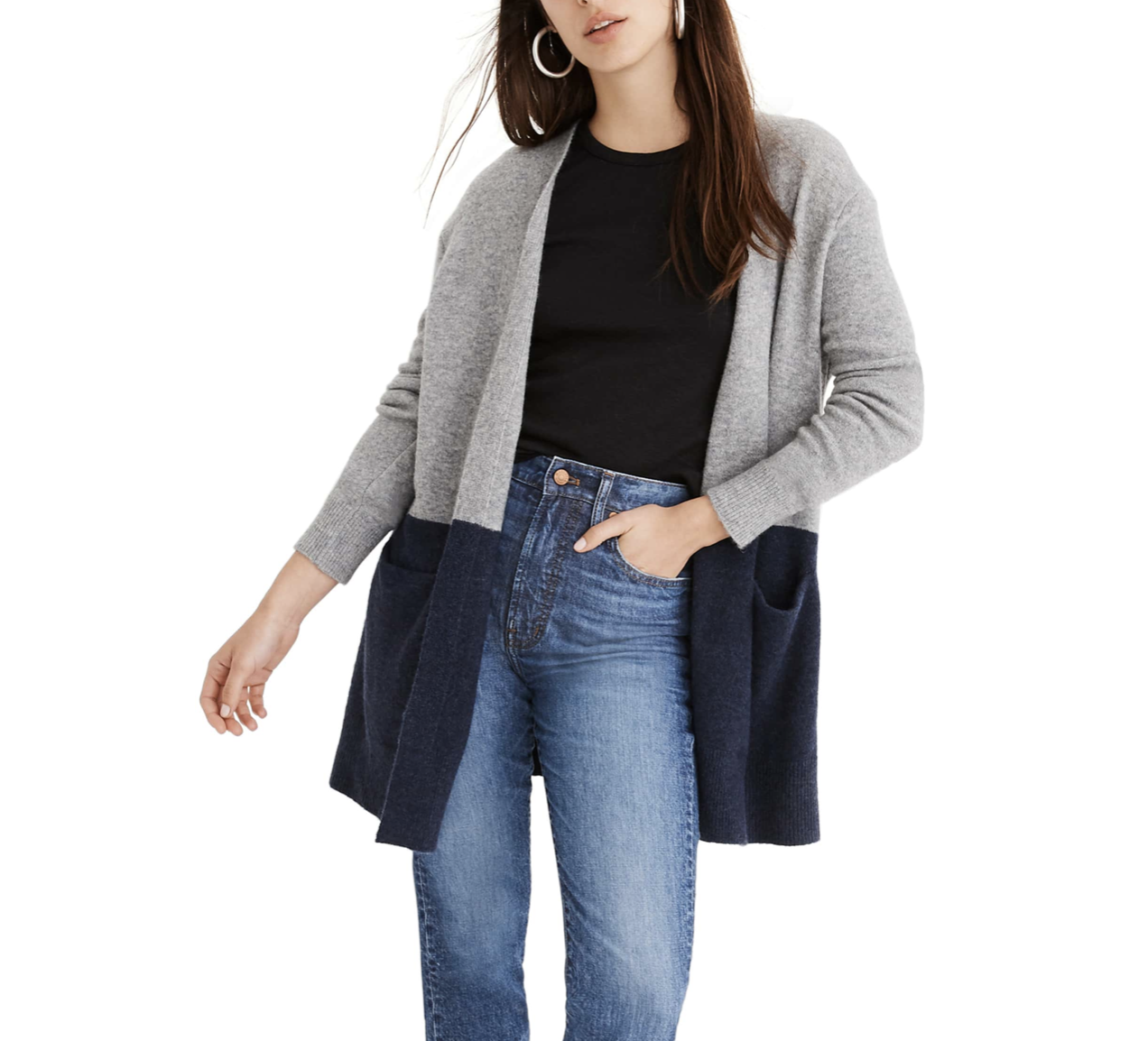 Color Block Madewell Cardigan | Nordstrom Anniversary Sale 2019 | A Demure Life Fashion Blog