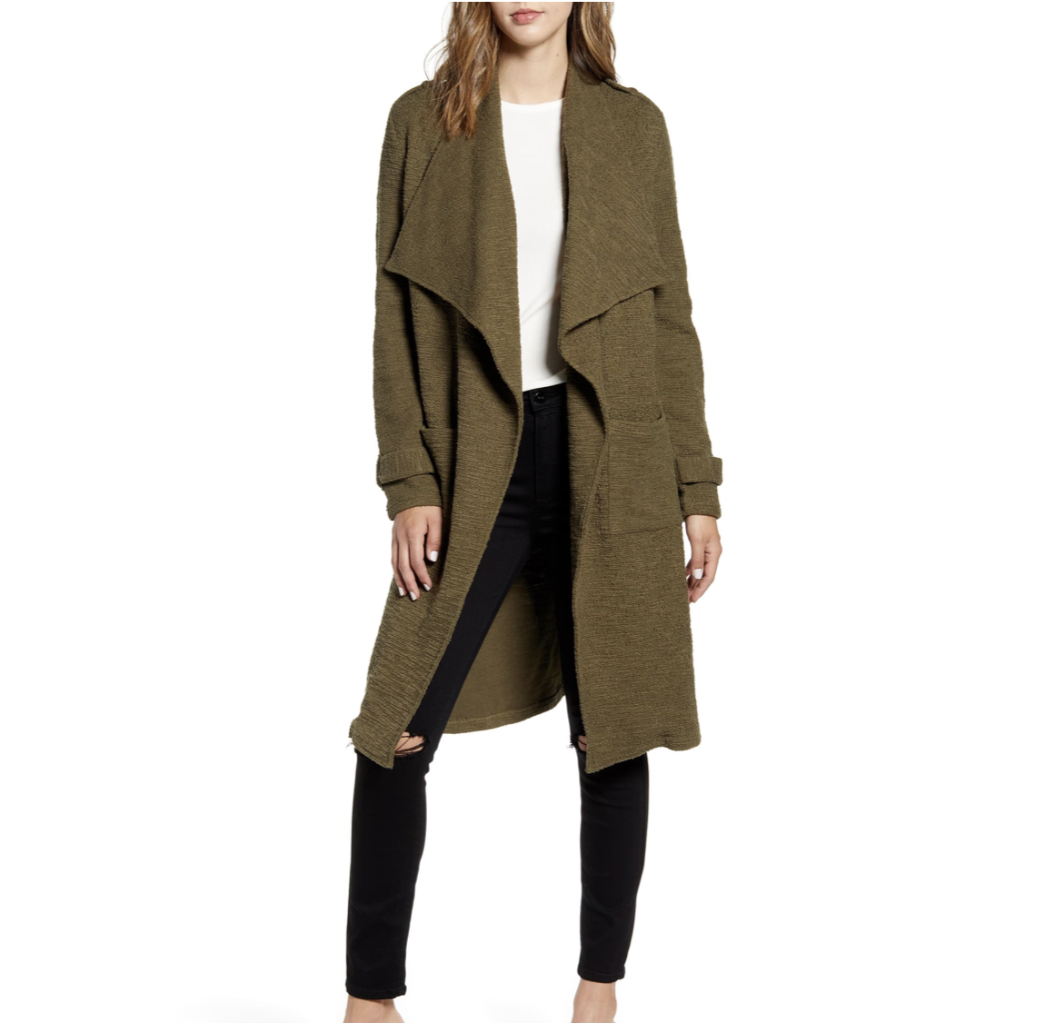 Olive Duster Cardigan | Nordstrom Anniversary Sale 2019 | A Demure Life Fashion Blog