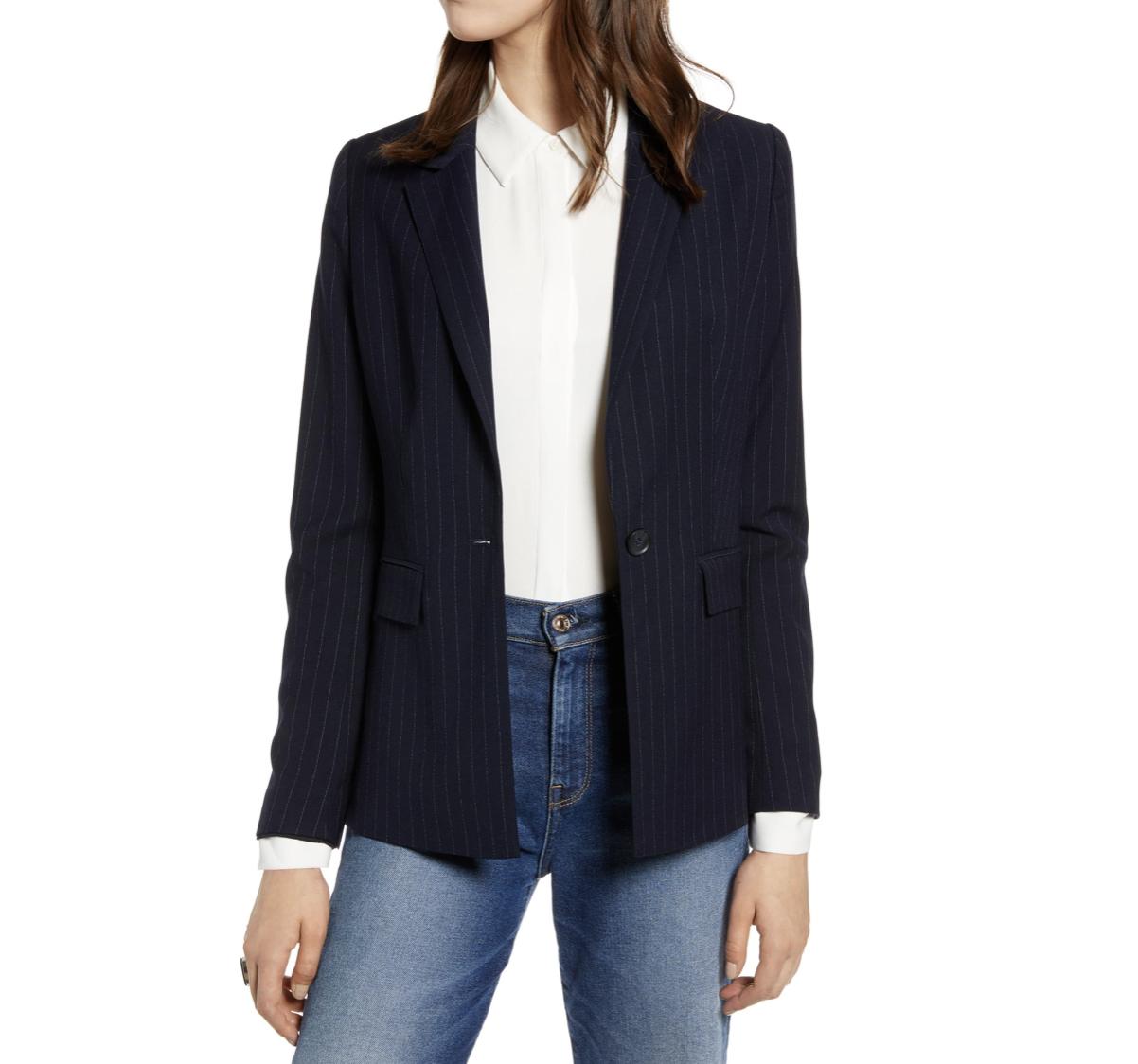 Navy Blazer | Nordstrom Anniversary Sale 2019 | A Demure Life Fashion Blog