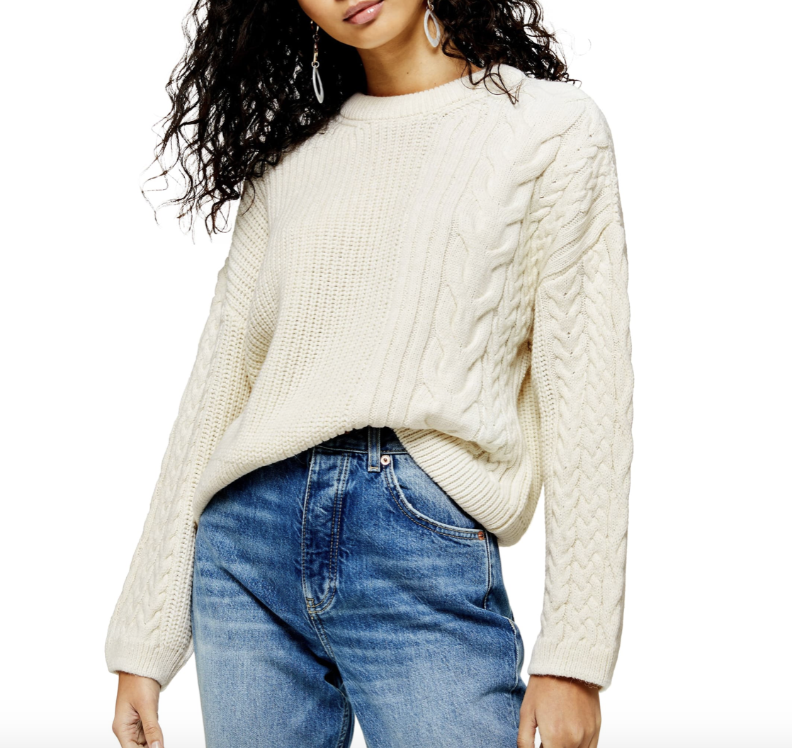 Chunky, White, Cable-knit Sweater | Nordstrom Anniversary Sale 2019 | A Demure Life Fashion Blog