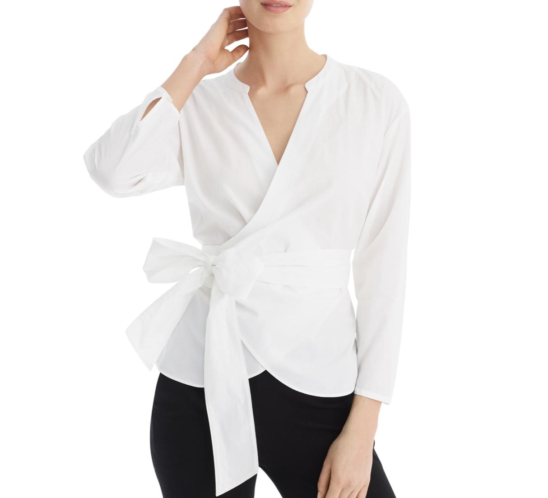 White Wrap Top | Nordstrom Anniversary Sale 2019 | A Demure Life Fashion Blog