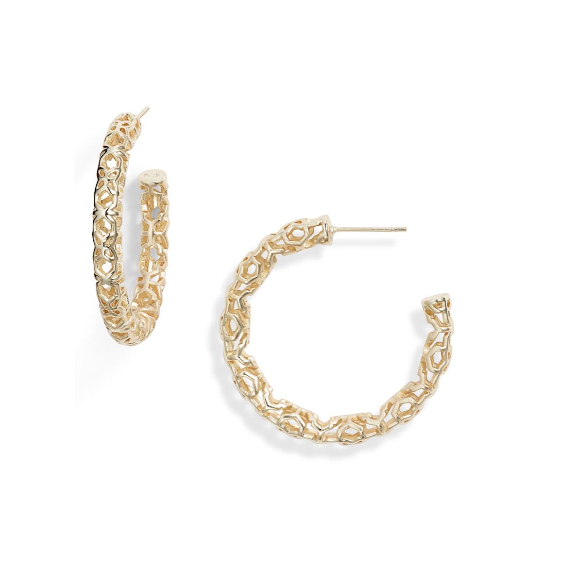 Kendra Scott Gold Hoops | Nordstrom Anniversary Sale | A Demure Life Fashion Blog