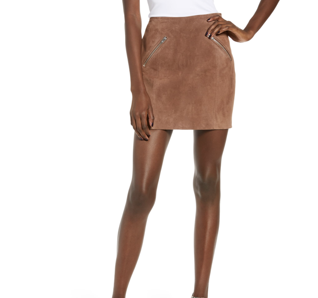 Brown Suede Skirt | Nordstrom Anniversary Sale | A Demure Life Fashion Blog