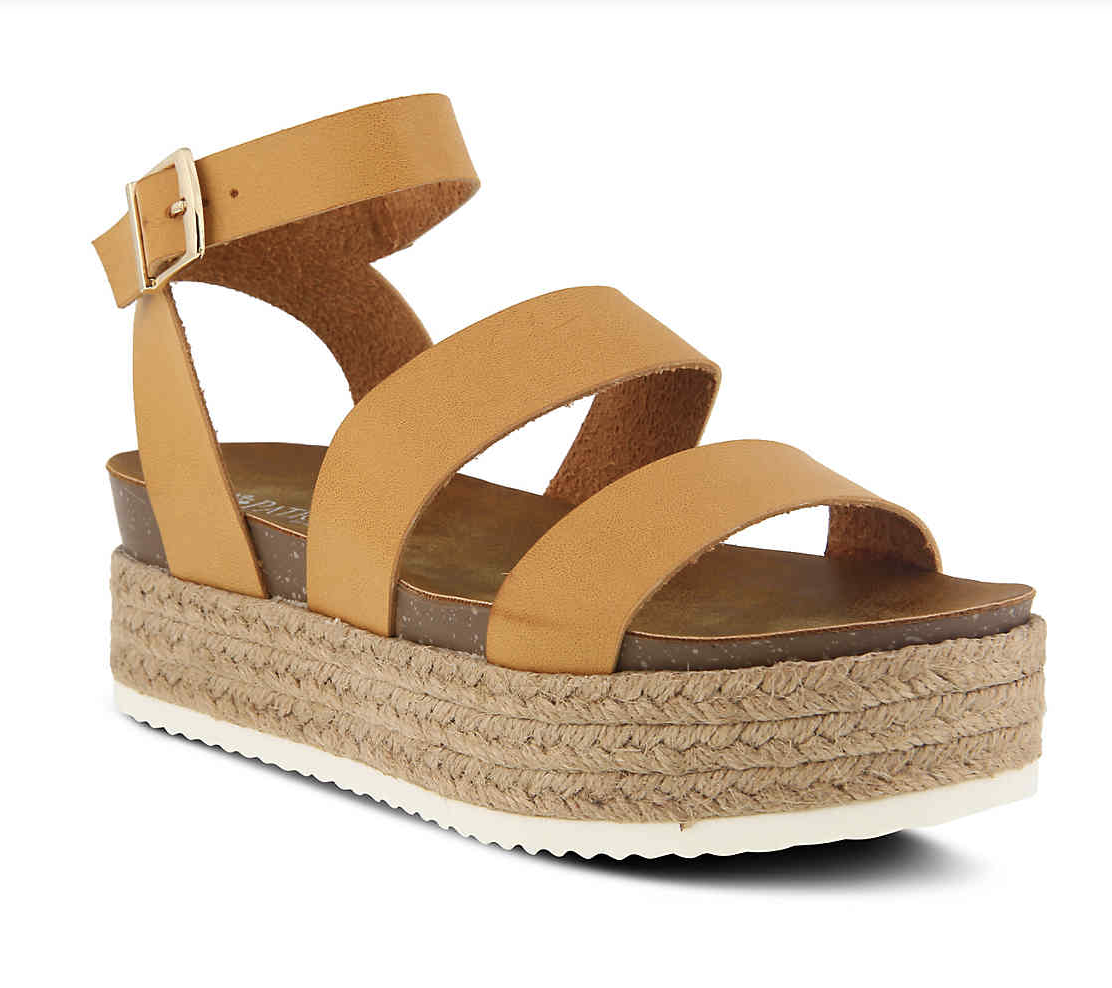 Cognac Platform Sandals - These are MY FAVORITE shoes I've purchased in a while!! I wear them several days a week!! There was absolutely no break-in period! They are amazing!! They are also very flattering for a simple sandal! I typically wear a size 7.5, but I got the 37 in these. They are under $50, so that makes them extra worth it!! You NEED these!!