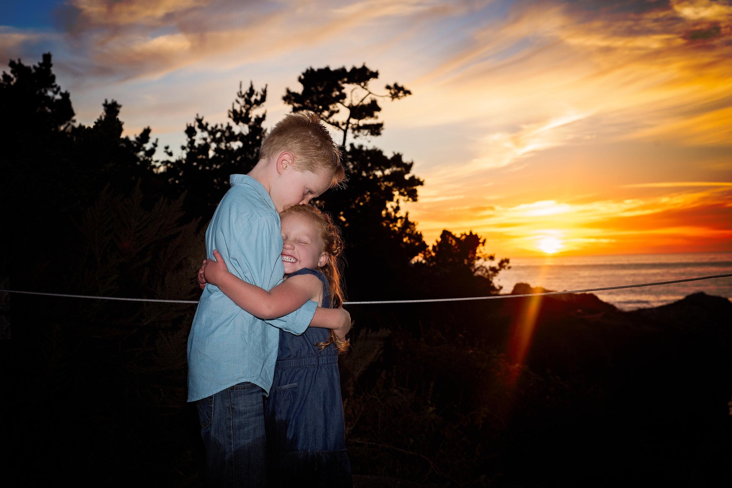 photos at sunset, Monterey, Ca