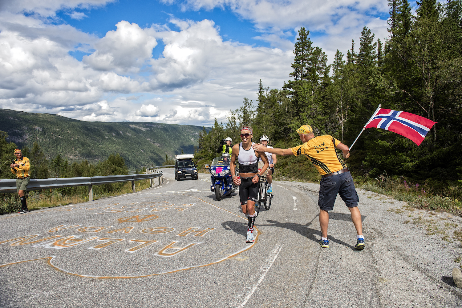 Photo credit: Allan Hovda running in first place at Norseman 2018 by Agurtxane Concellon