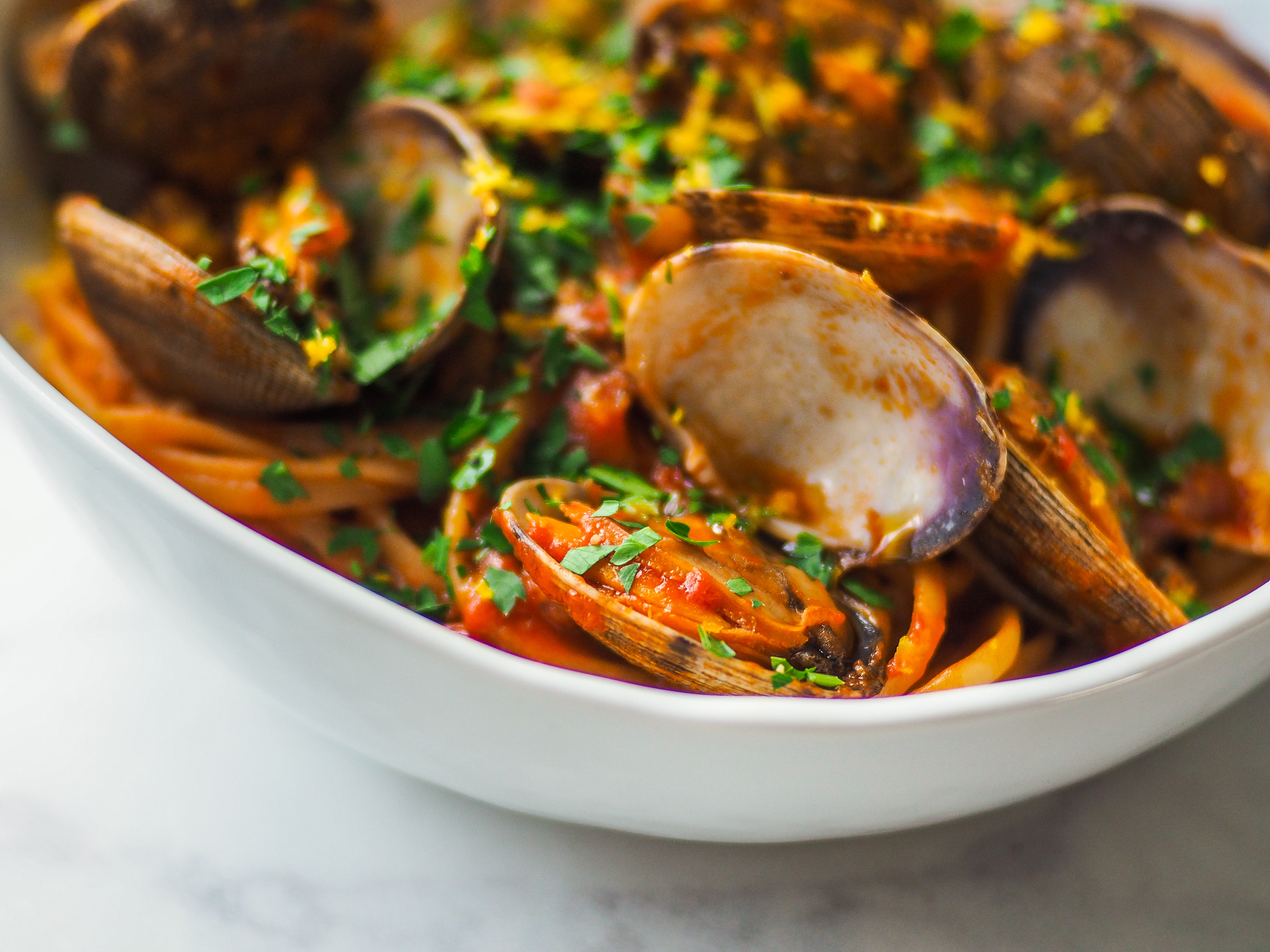 Linguine w/ Red Clam Sauce