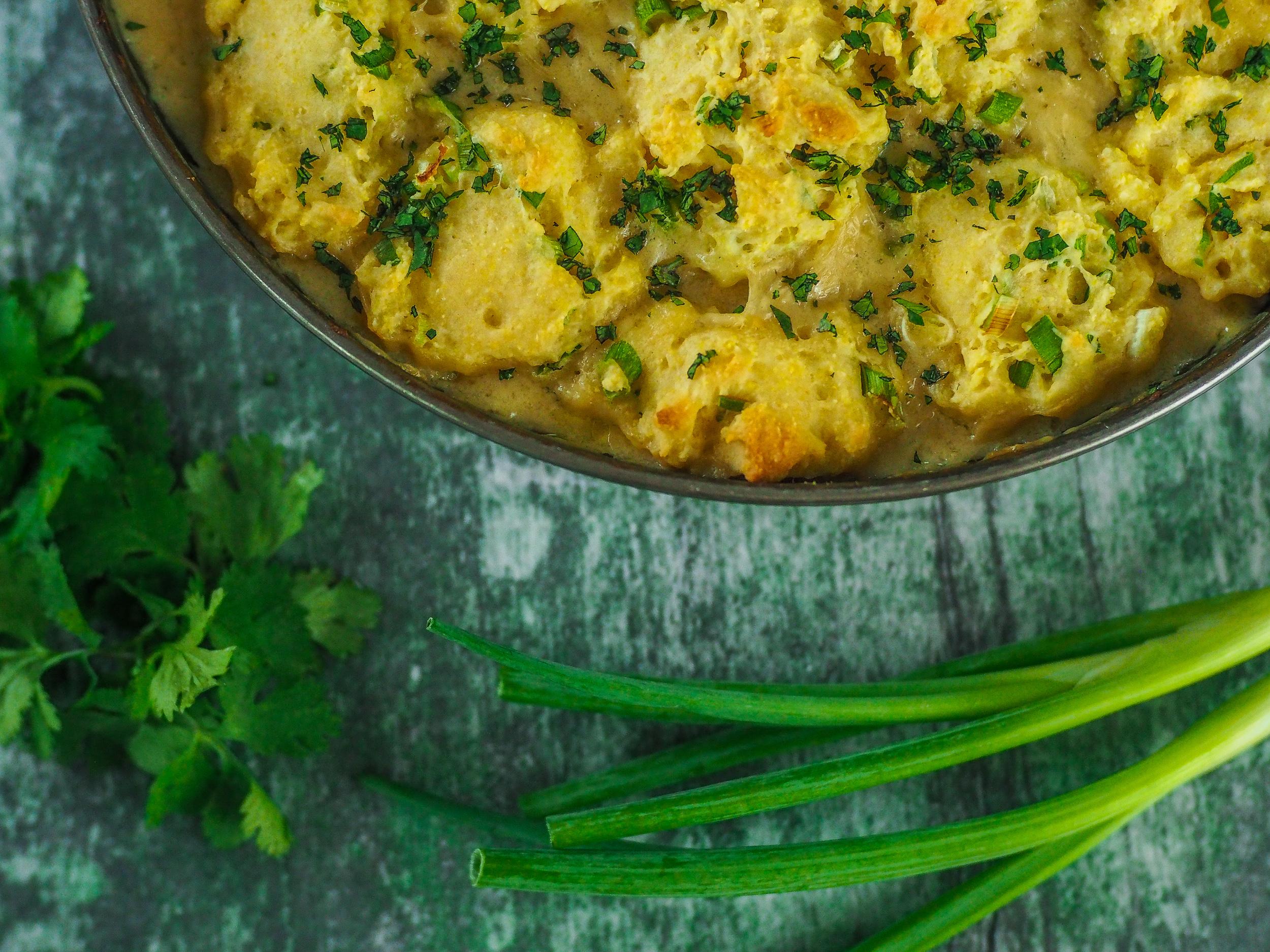 Salsa Verde Chicken and Dumplings