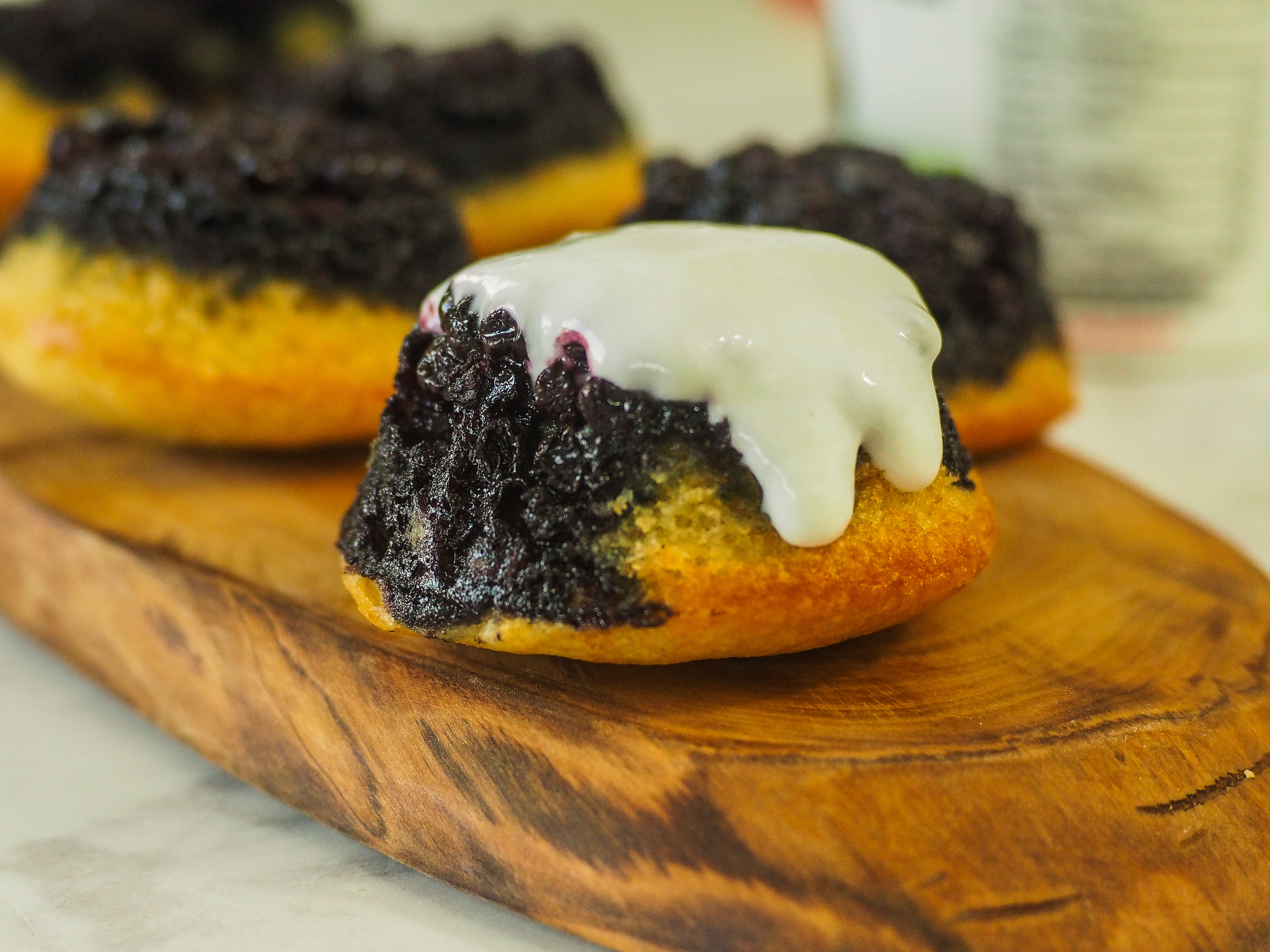 """Blueberry Upside-Down """"Muffins"""""""