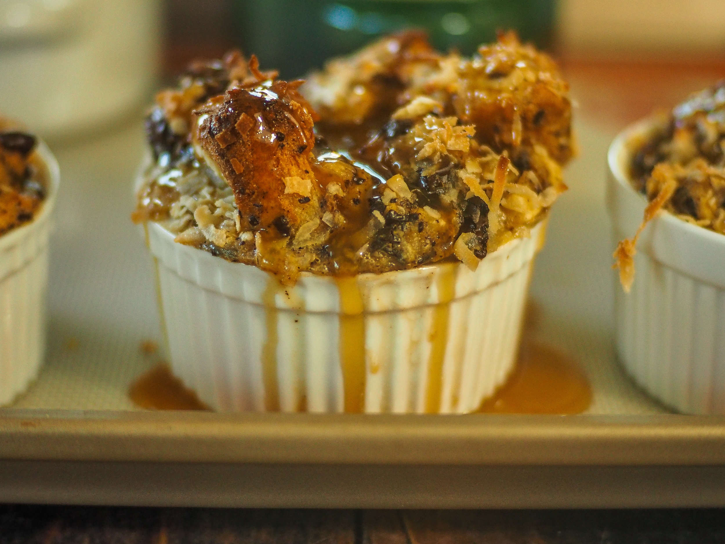 Coconut-Banana-Chocolate Bread Pudding