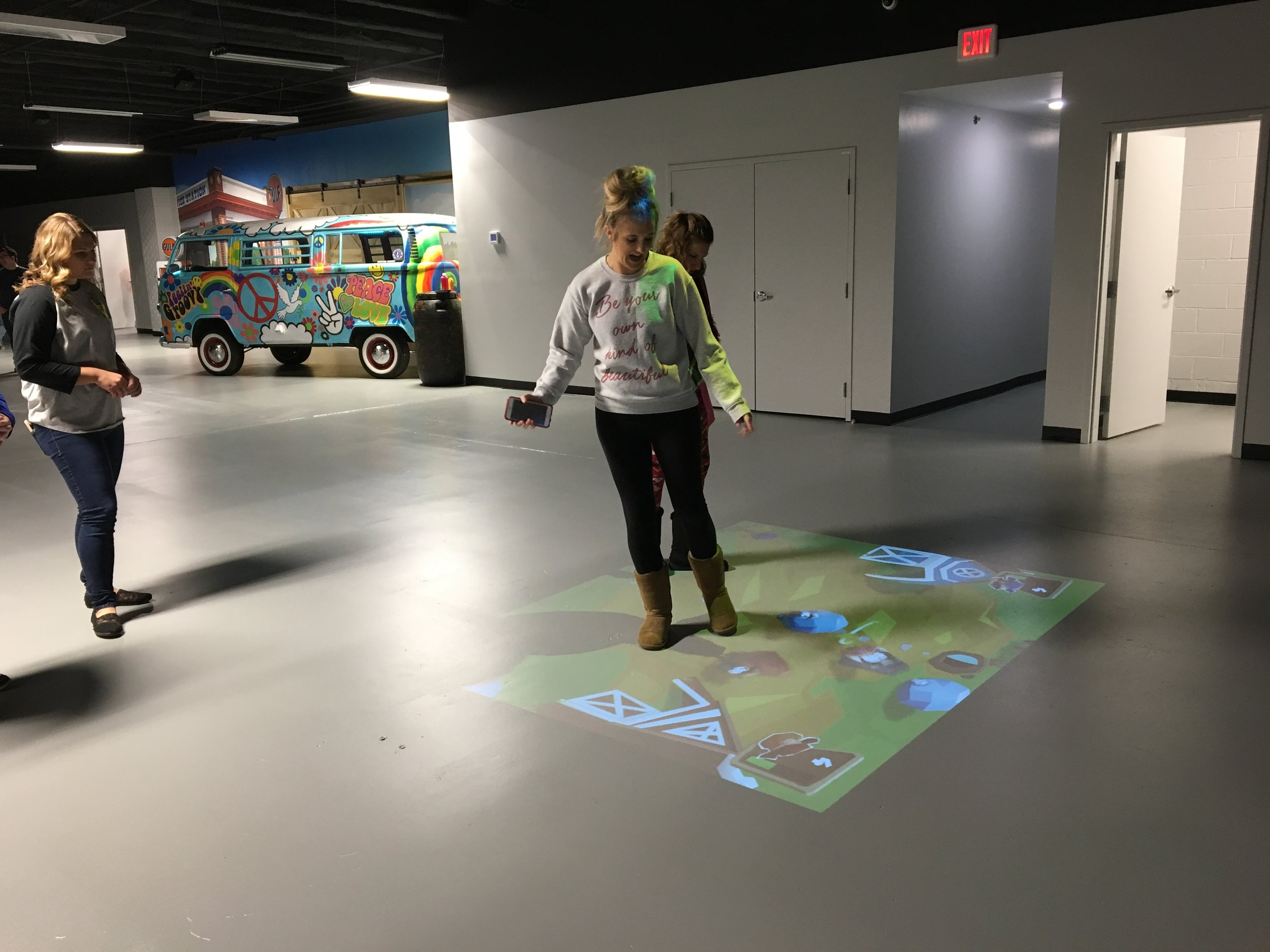 Beam Technology - Interactive games projected on the floor.