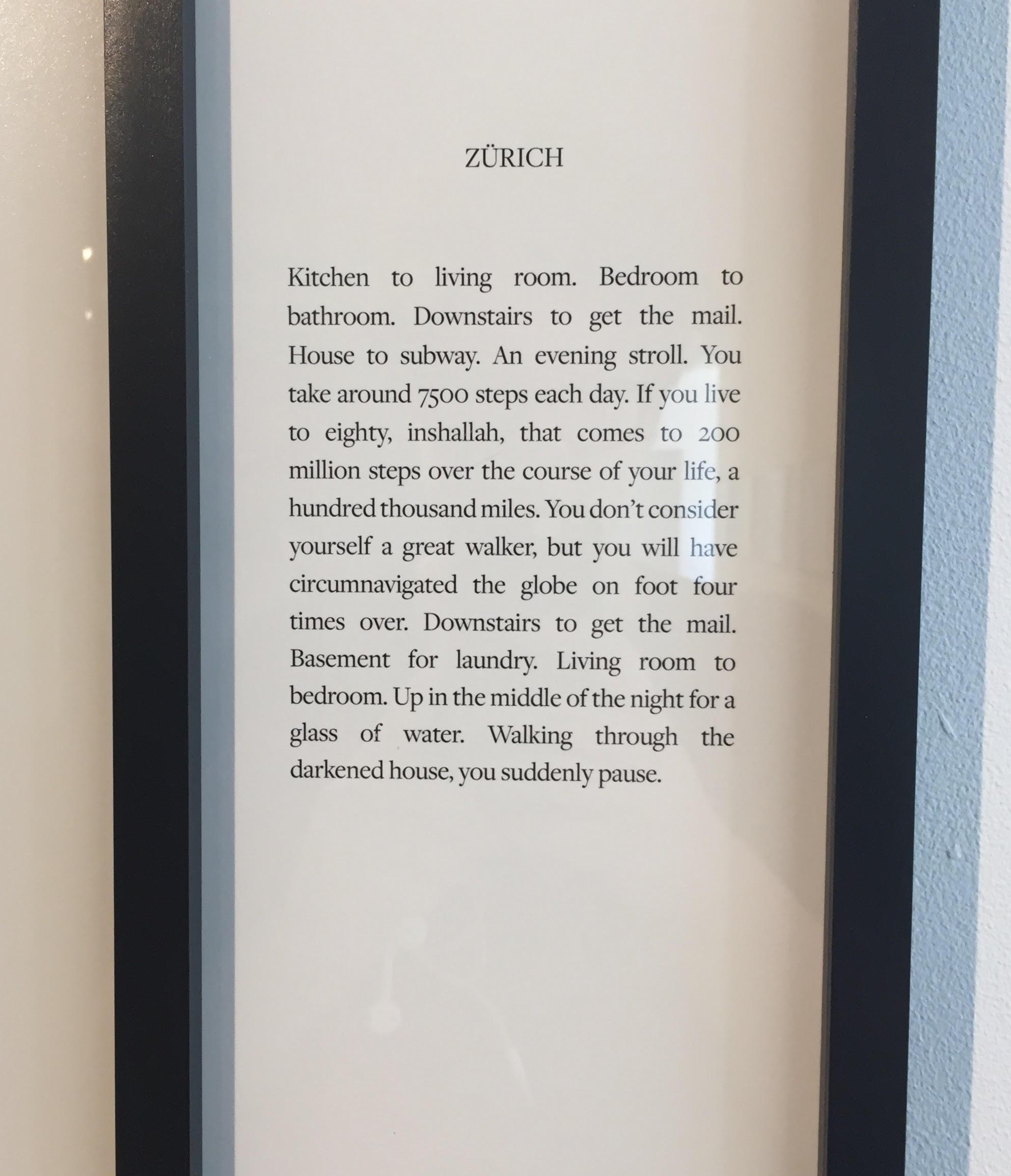 Detail of Teju Cole's  Zurich,  2014.