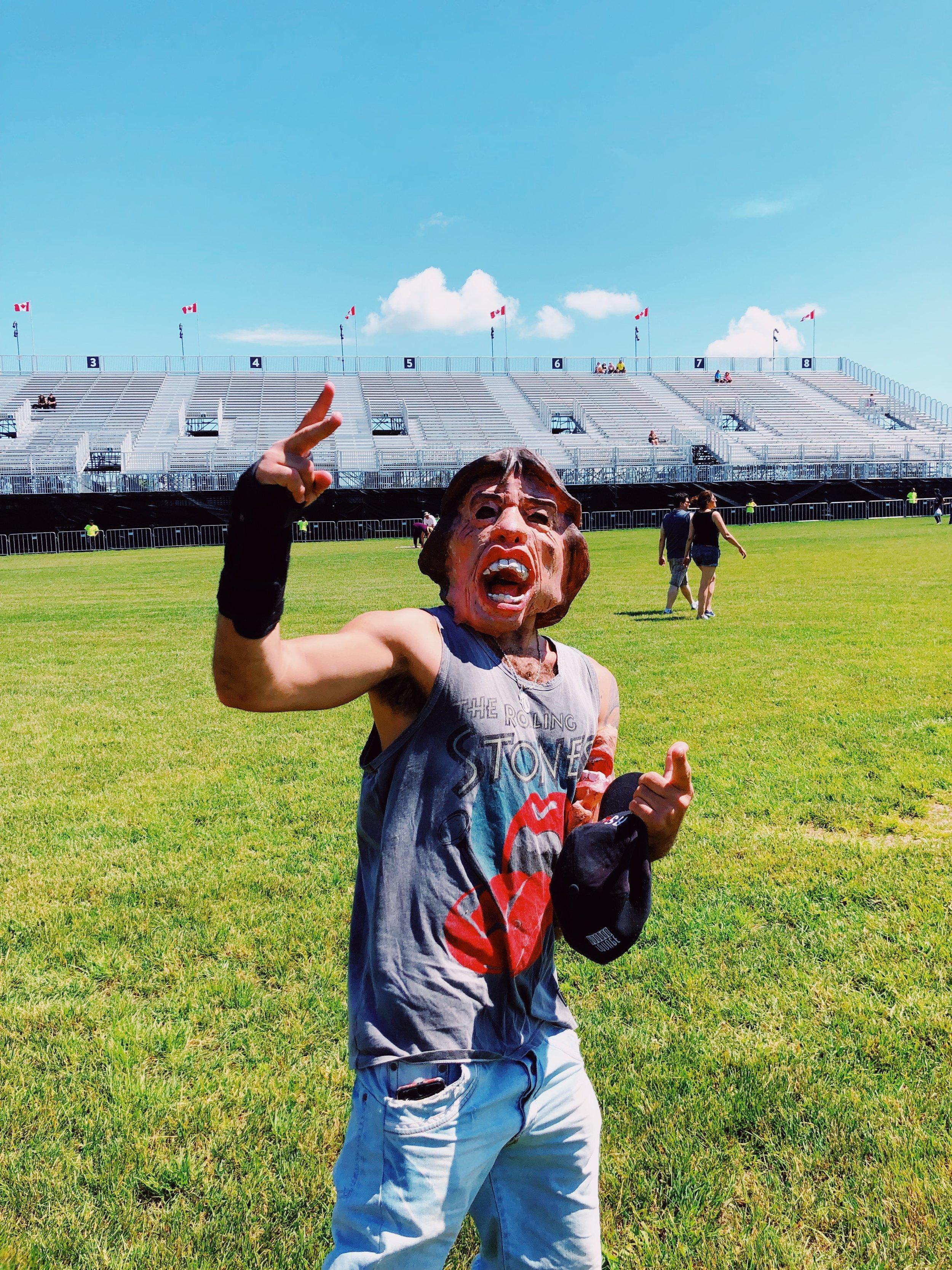 Met Mick Jagger, great guy