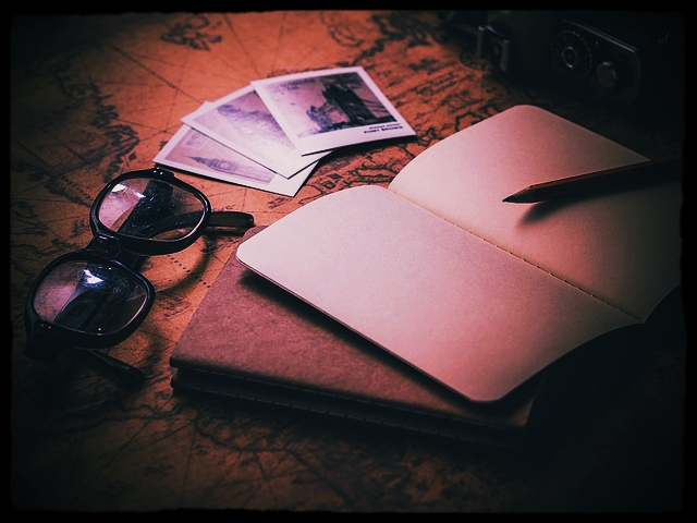 notebook retro