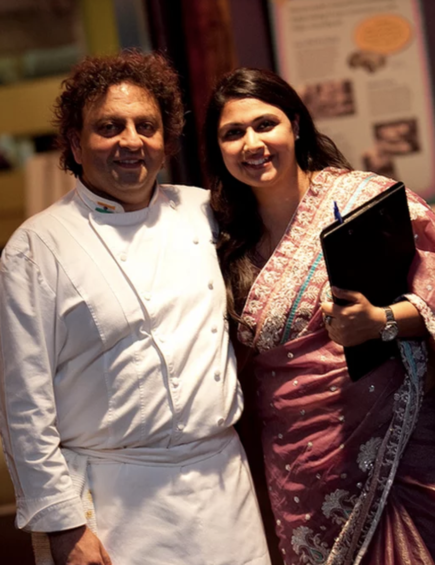 But the best part of the evening was the scrumptious food served by none other than the phenomenal Vikram Vij.  Dream Team  Photographer:Gurk Bains, Photographer Venue:  Museum of Vancouver  Dinner:  Vikram Vij  Décor:  Raymon's Decor  Design: The Soirée Company
