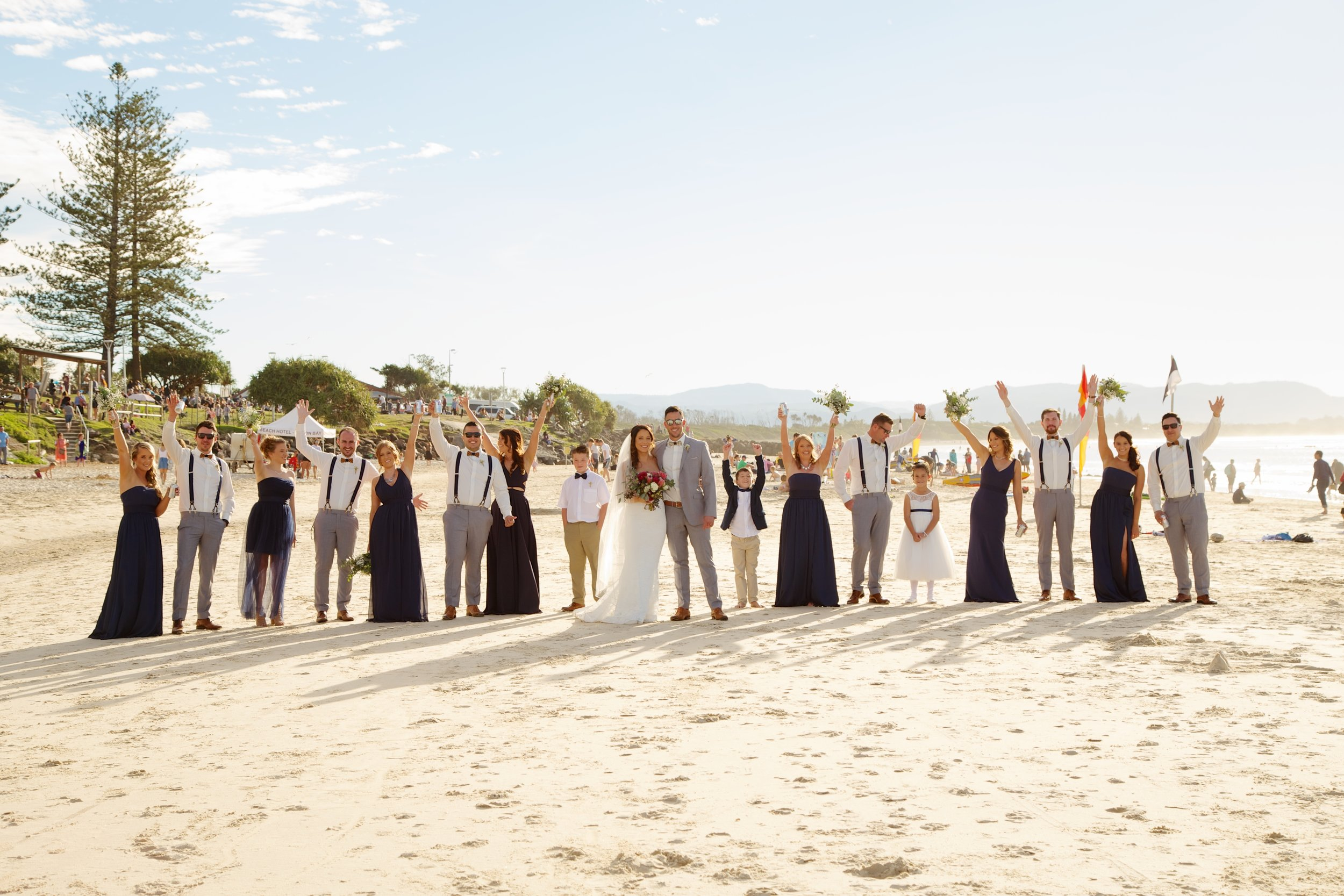 Professional Wedding Photographer at the Surf Club, Byron Bay Beach, NSW