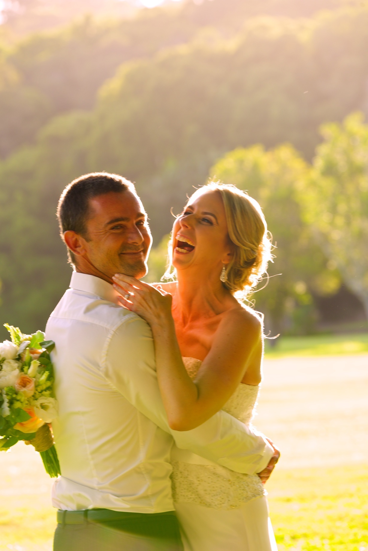 Wedding photography in nature setting