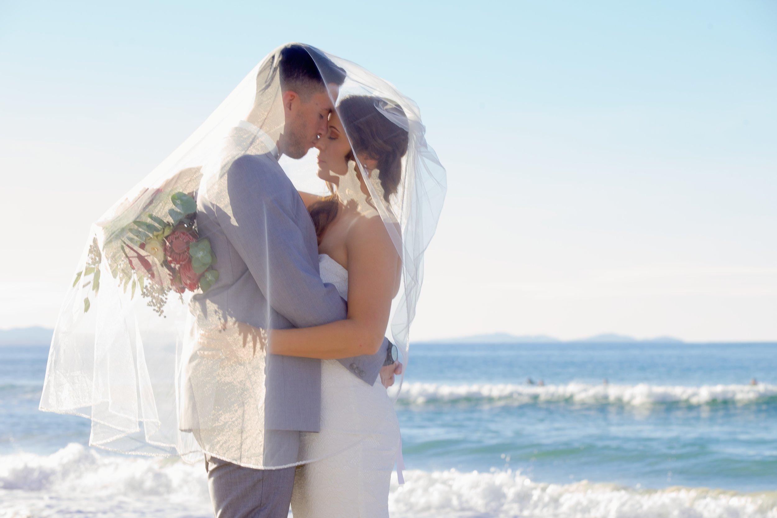 Professional Wedding Photographer at the Surf Club, Byron Bay Beach, NSW