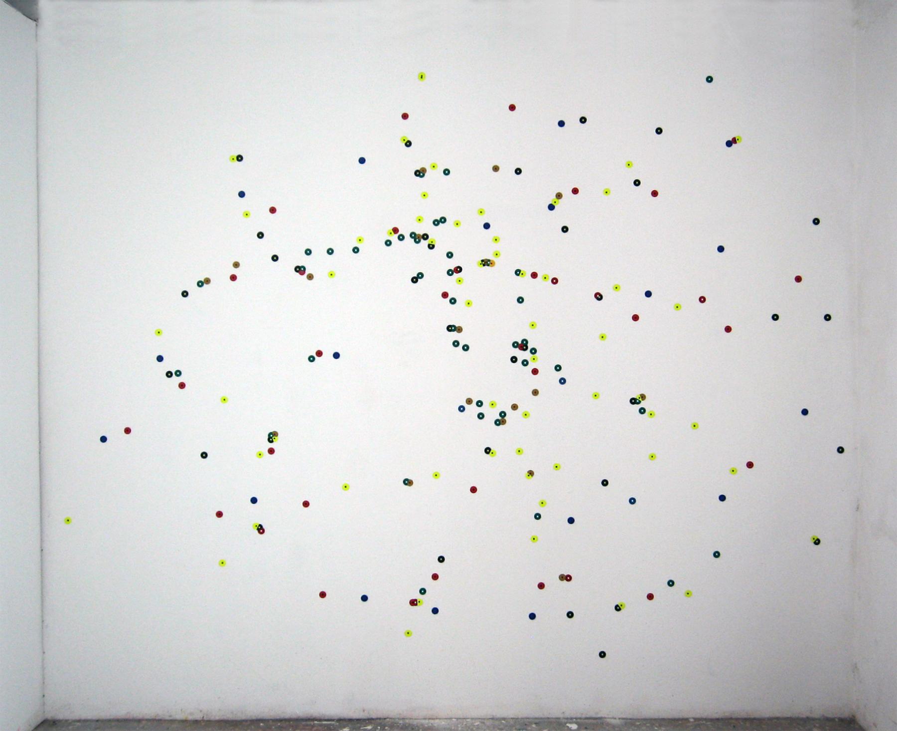"""""""Cells: US Restaurants: Paris"""" acrylic on paper 96""""x144"""" 2011"""