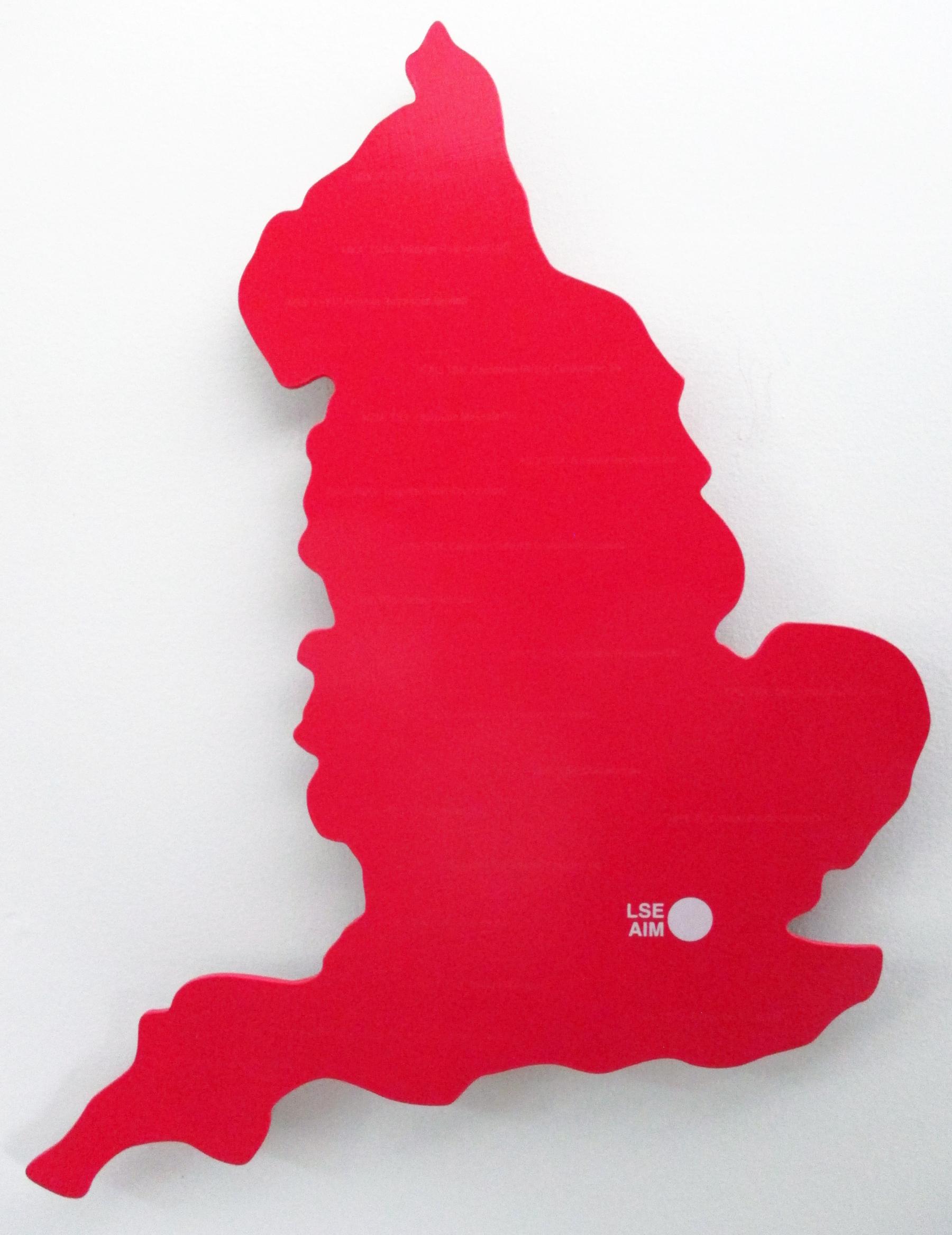 """Cross Listed Stocks: Canada: England"" acrylic and screen print on panel 20""x14"" 2017"
