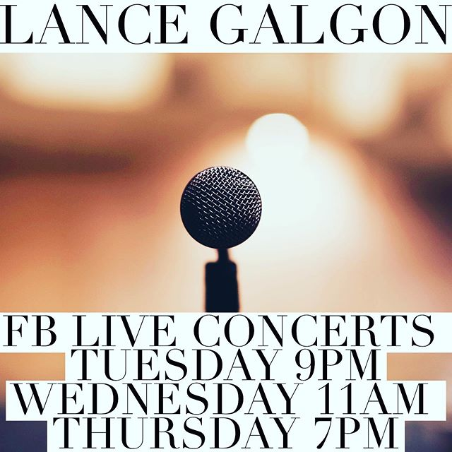 #livemusic  Hey guys!  Here is my FB Live Concert schedule for the week.  Before we get into June and my #30daysoflivemusic  Tune in for Original Music, Covers, and Giveaway prizes!  See you guys there! 😉🙌