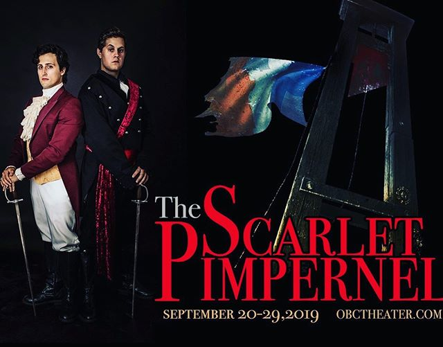Not gonna lie ya'll, I am THRILLED to be doing this show again with @obctheater, standing along side my brotha @mattytoddvitus. If you have never seen a production of The Scarlet Pimpernel, you are truly missing out on a @frank.wildhorn classic! • • Show opens Sept 19th, tickets available at www.obctheater.com • • • #livetheatre #musicaltheatre #musical #swordfighting