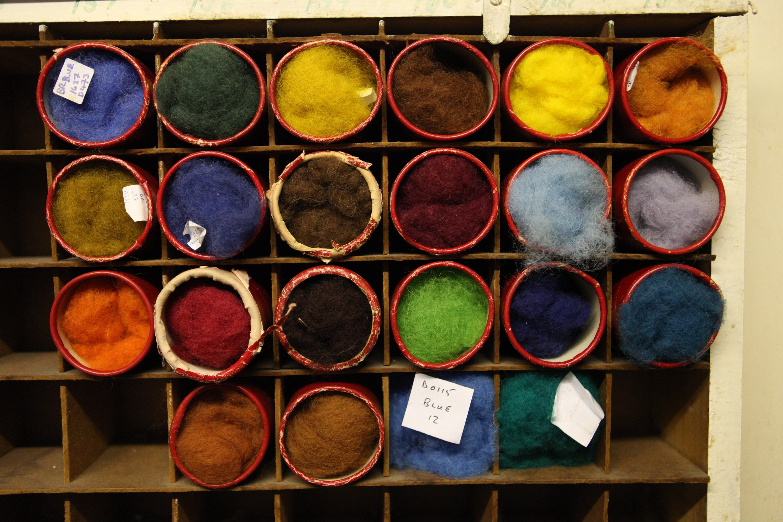 Wool color swatches