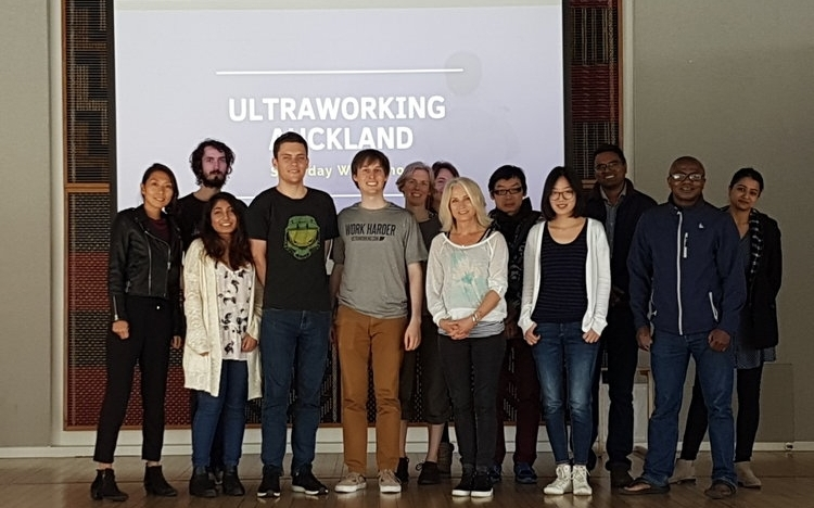 Ultraworking Worldwide: Live Work Cycles events hosted at cities such as Auckland, San Francisco, and Medellín.