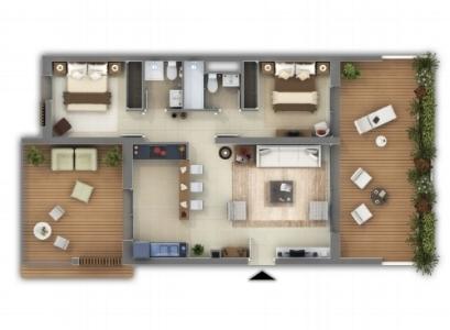 Plan appartement f3